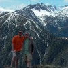 147Dad&NateMountHoward,WallowaMountains,OR2009